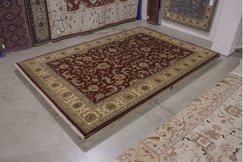 100% Wool Red Indo Persian Keshan Rug IPZ035070 545x361 Handknotted in India with a 20mm pile