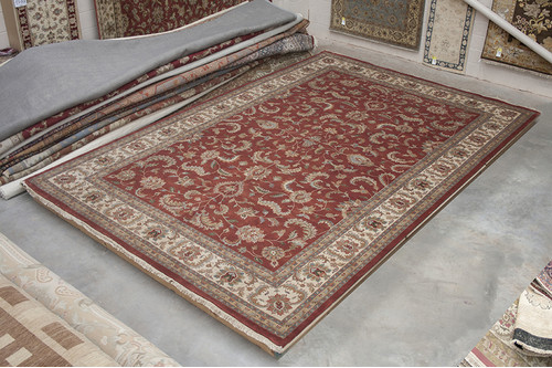 100% Wool Red Indo Persian Keshan Rug IPZ035074 548x364 Handknotted in India with a 20mm pile