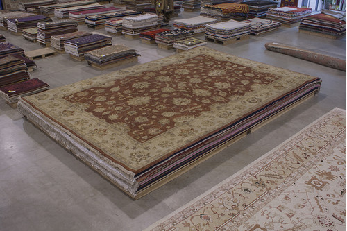 100% Wool Rust Indo Zeigler Rug IZV035074 551x368 Handknotted in India with a 20mm pile