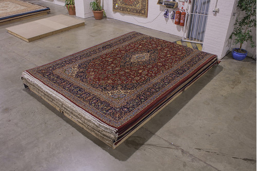 100% Wool Red Persian Keshan Rug KES031052 488x316 Handknotted in Iran with a 20mm pile