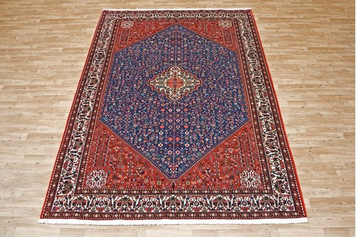 100% Wool Red Persian Abadeh Rug PAB023052 3.03 x 2.11 Handknotted in Iran with a 15mm pile