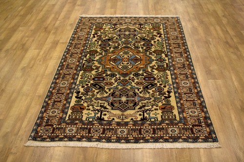 100% Wool Multi Persian Ardebil Rug PAR020FIN 254 x 168 Handknotted in Iran with a 11mm pile