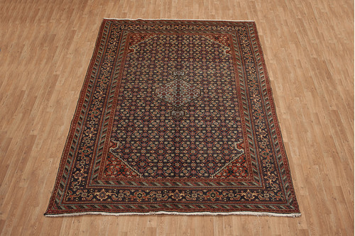 100% Wool Multi Persian Ardebil Rug PAR025CHE 325x230 Handknotted in Iran with a pile