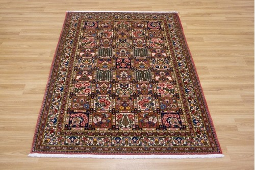 100% Wool Rust Persian Bakhtiar Rug PBA014030 1.53 x 1.00 Handknotted in Iran with a 16mm pile