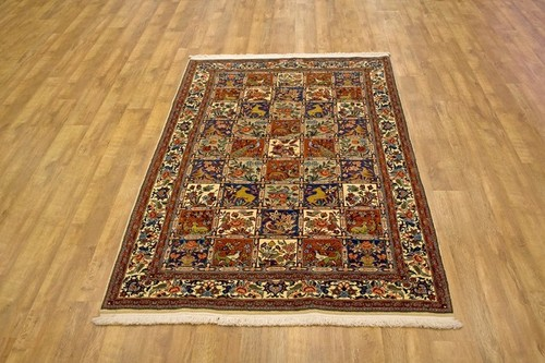 100% Wool Rust Persian Bakhtiar Rug PBA020030 240 x 156 Handknotted in Iran with a 16mm pile