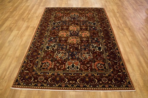 100% Wool Rust Persian Bakhtiar Rug PBA023030 300 x 195 Handknotted in Iran with a 16mm pile