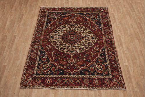 100% Wool Multi Persian Bakhtiar Rug PBA023CHE 294x206 Handknotted in Iran with a pile