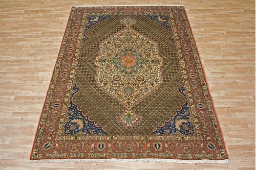 100% Wool Multi Persian Bakhtiar Rug PBA023FIN 2.88 x 2.06 Handknotted in Iran with a 16mm pile
