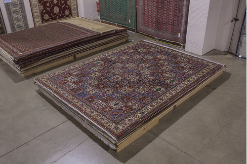 100% Wool Multi Persian Bakhtiar Rug PBA029030 393x309 Handknotted in Iran with a 20mm pile