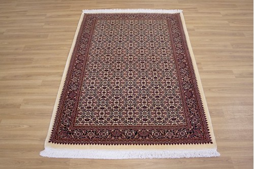 100% Wool Multi Persian Bidjar Carpet PBD018M84 1.74 x 1.13 Handknotted in Iran with a 16mm pile