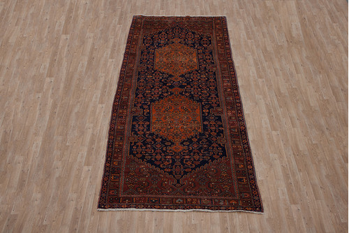 100% Wool Red Persian Bidjar Rug PBD023CHE 380x155 Handknotted in Iran with a pile