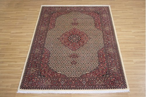 100% Wool Multi Persian Bidjar Carpet PBD023M94 2.99 x 2.03 Handknotted in Iran with a 16mm pile