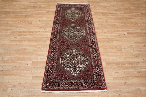 100% Wool Rust Persian Bidjar Carpet PBD043000 2.10 x .73 Handknotted in Iran with a 16mm pile