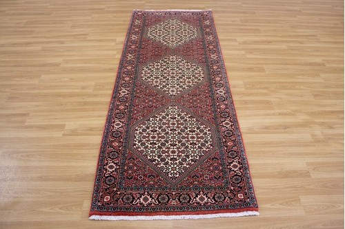 100% Wool Rust Persian Bidjar Carpet PBD043000 2.10 x .80 Handknotted in Iran with a 16mm pile