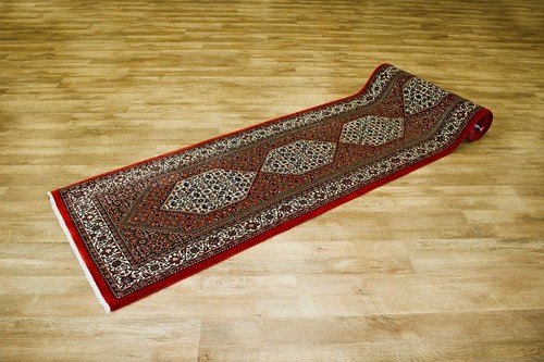 100% Wool Multi Persian Bidjar Carpet PBD049FIN 400 x 80 Handknotted in Iran with a 16mm pile