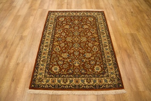 100% Wool Brown Persian Eilam Rug PEL014000 134 x 103 Handknotted in Iran with a 13mm pile