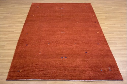 100% Wool Red Persian Gabbeh Rug PGA023052 3.10 x 2.01 Handknotted in Iran with a 13mm pile
