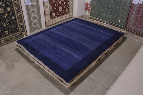 100% Wool Blue Persian Gabbeh Rug PGA029F46 378x305 Handknotted in Iran with a 22mm pile