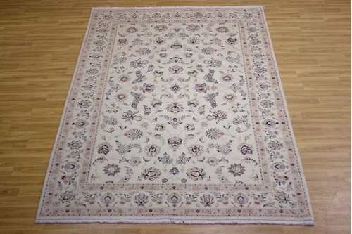 100% Wool Cream Persian Golbaft Rug PGO023044 2.97 x 2.01 Handknotted in Iran with a 17mm pile