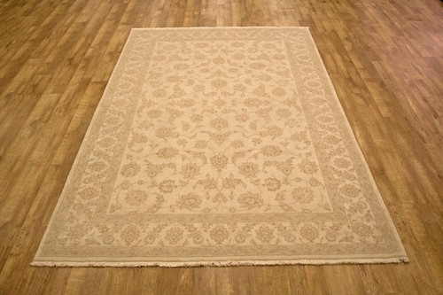 100% Wool Cream Persian Golbaft Rug PGO023NAT 299 x 196 Handknotted in Iran with a 17mm pile