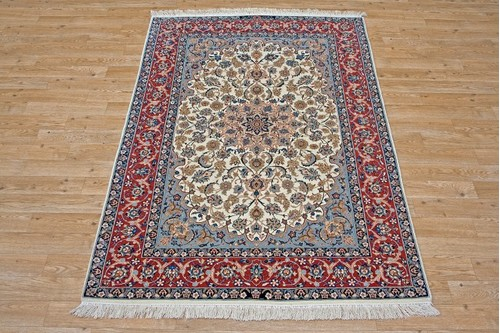 100% Wool Multi Persian Ipsphan Rug PIS018000 1.60 x 1.08 Handknotted in Iran with a 10mm pile