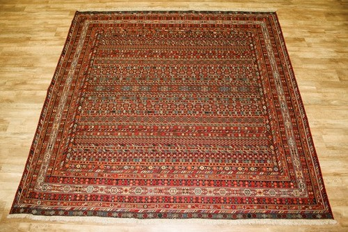 100% Wool Brown Persian Sirjan Kelim PSK095000 295 x 295 Handknotted in Iran with a 3mm pile
