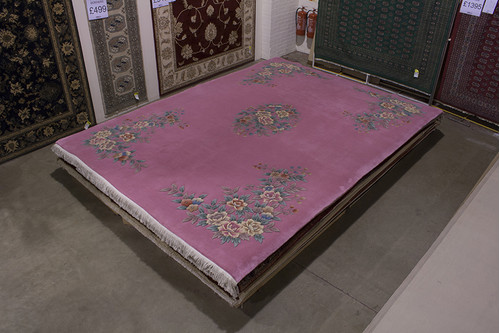 100% Wool Rose Chinese Premier Superwashed Rug PSW030432 408x302 Handknotted in China with a 25mm pile