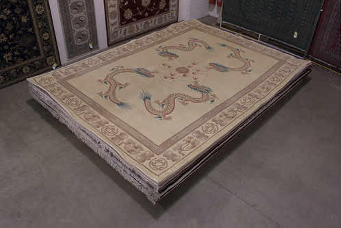 100% Wool Cream Chinese Premier Superwashed Rug PSW030440 419x307 Handknotted in China with a 25mm pile