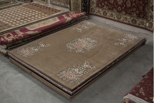 100% Wool Beige Premier Superwashed Chinese Rug PSW030706 427x305 Handknotted in China with a 25mm pile