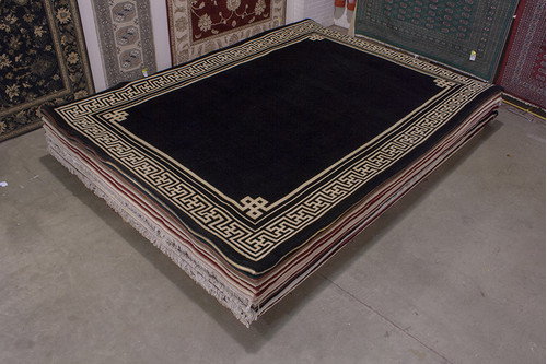 100% Wool Black Chinese Premier Superwashed Rug PSW030801 426x308 Handknotted in China with a 25mm pile