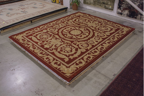 100% Wool Red Chinese Premier Superwashed Rug PSW033541 462x363 Handknotted in China with a 25mm pile