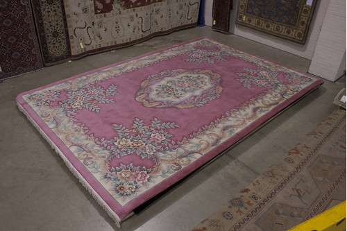 100% Wool Rose Chinese Premier Superwashed Rug PSW035105 549x366 Handknotted in China with a 25mm pile