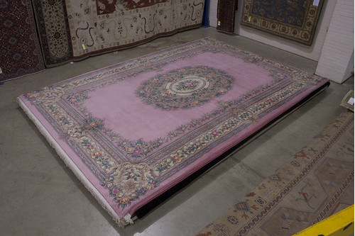 100% Wool Rose Chinese Premier Superwashed Rug PSW035215 555x366 Handknotted in China with a 25mm pile