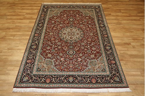 100% Wool Red Persian Tabriz Rug PTA023F96 311 x 194 Handknotted in Iran with a 10mm pile
