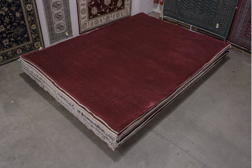 100% Wool Red Chinese Floral Spray Rug SPS030333 420x302 Handknotted in China with a 25mm pile