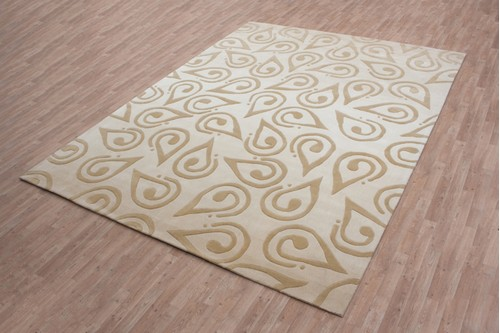100% Acrylic Beige Chinese Acrylic Rug Handmade in China with a 15mm pile
