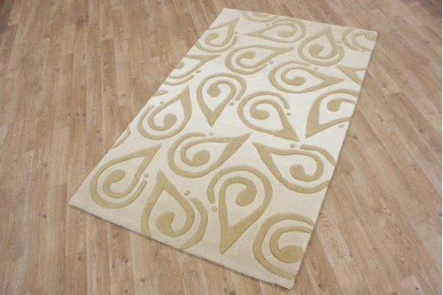100% Acrylic Beige Chinese Acrylic Rug ACR245 Handmade in China with a 15mm pile