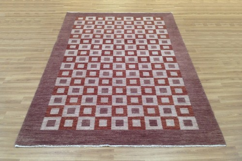 100% Wool Brown Afghan Modern Rug AGM022CHE 258x179Handknotted in Afghanistan with a 6mm pile