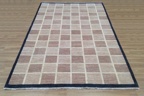 100% Wool Afghan Modern Rug AGM023CHE 300x197 Handknotted in Afghanistan with a 5mm pile