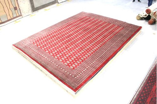 100% Wool Red Pakistan Bokhara Handknotted in Pakistan with a 10mm pile