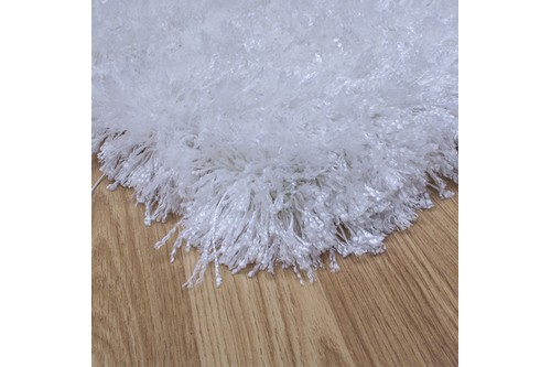 100% Polyester Cream Shaggy Rug Design Handmade in China with a 45mm pile