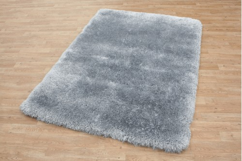 100% Polyester Grey Shaggy Rug Design Handmade in China with a 45mm pile