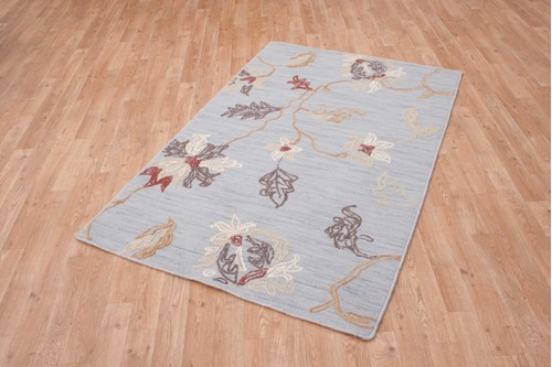 100% Polyester Blue Mandarin Designer Rug Design CMA002 Handmade in China with a 10mm pile