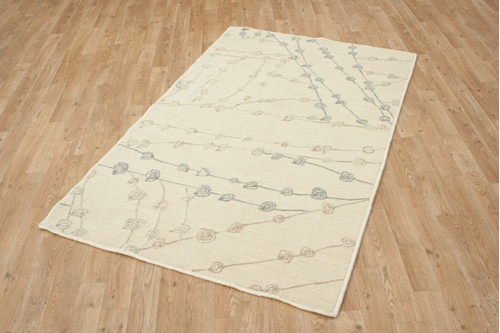 100% Polyester Cream Mandarin Designer Rug Design CMA003 Handmade in China with a 10mm pile