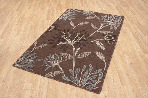 100% Polyester Brown Mandarin Designer Rug Design CMA004 Handmade in China with a 10mm pile