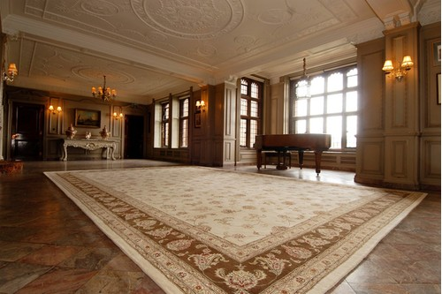 95% Wool / 5% Silk Cream Royal Yelmi Rug Design CWS035275 5.49 X 3.66 Handtufted in China with a 12mm pile