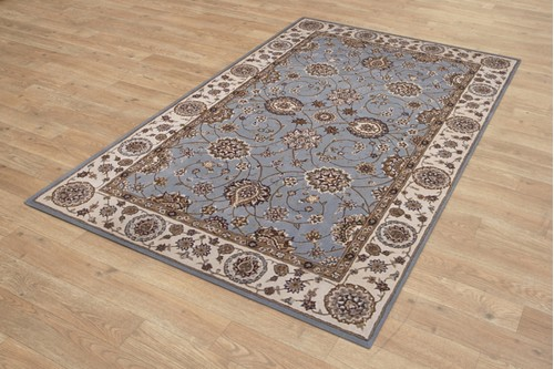 95% Wool / 5% Silk Grey Royal Yelmi Rug Design Handtufted in China with a 12mm pile