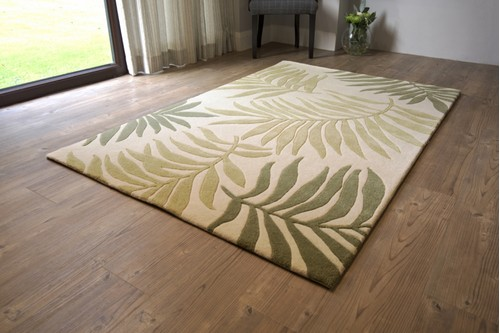 60% Wool / 40% Viscose Multi Ella Claire Indian Rug Design Handmade in India with a 18mm pile