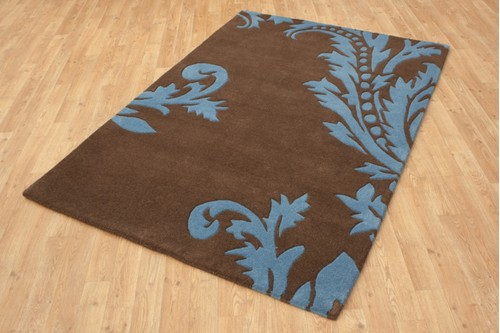100% Wool Multi Ella Claire Vibrance Indian Rug ECC002 Handmade in India with a 18mm pile