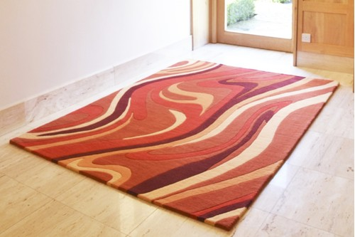 100% Wool Multi Ella Claire Vibrance Indian Rug Handmade in India with a 18mm pile